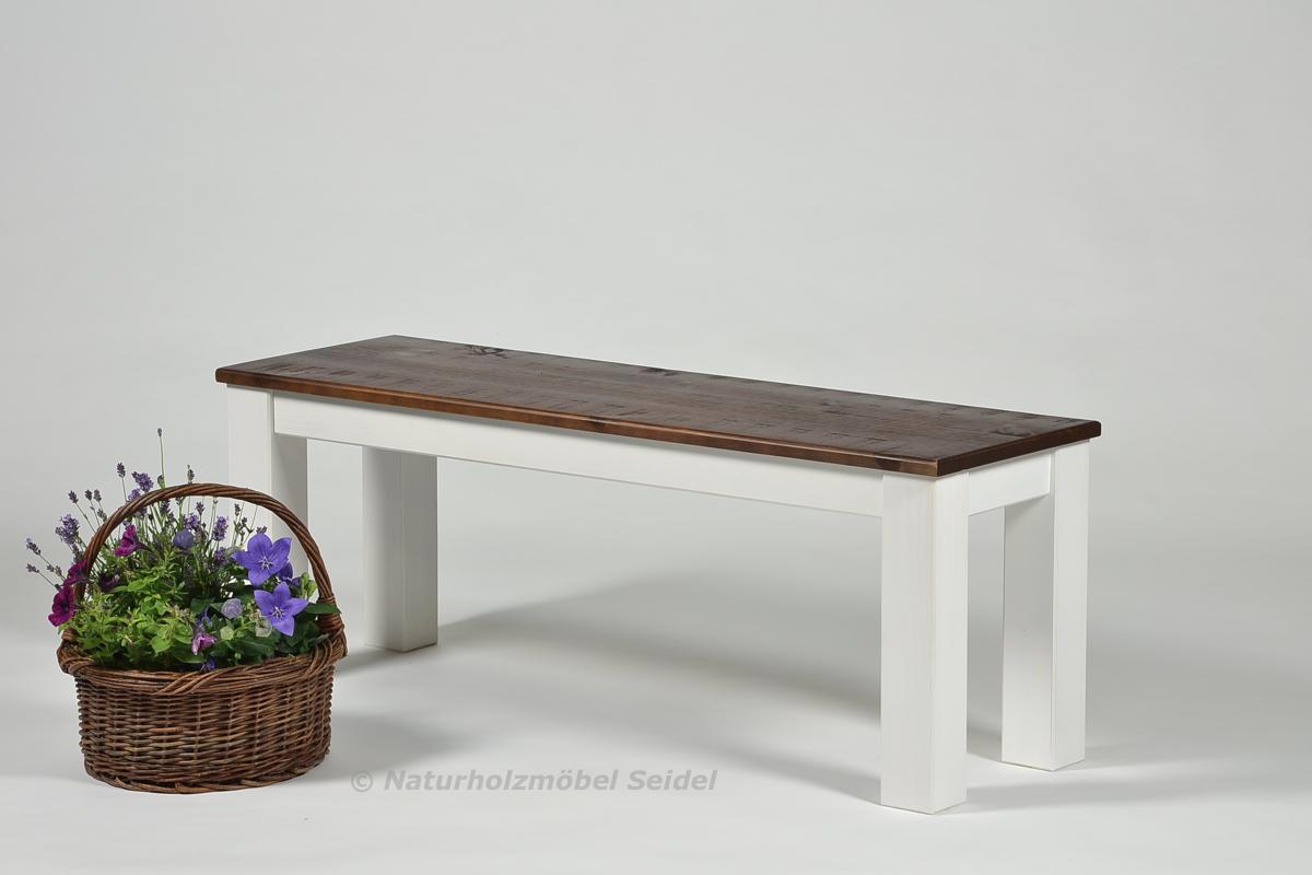 sitzbank rio landhaus holz bank 120x38cm pinie rustikal. Black Bedroom Furniture Sets. Home Design Ideas