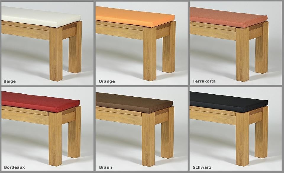 sitzbank 120 massivholz pinie bankauflage in 120x38cm bank farbton honig hell ebay. Black Bedroom Furniture Sets. Home Design Ideas