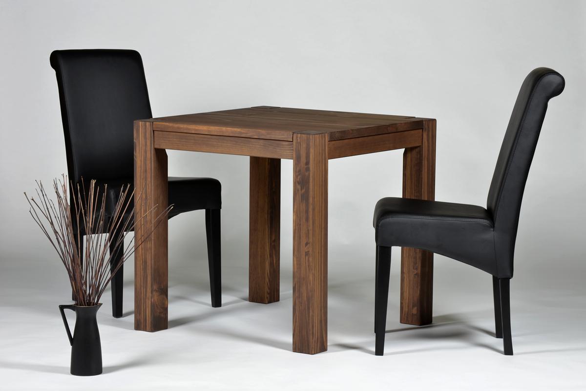 Esstisch Rio Bonito Tisch 80x80cm Massivholz Pinie, Cognac braun