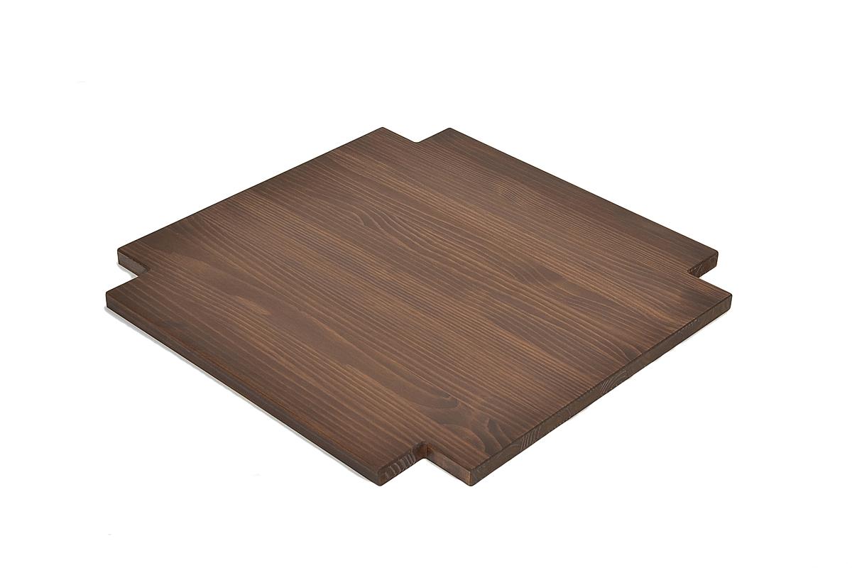 Ablage Zwischenboden für Couchtisch 80x80cm Rio Bonito Cognac braun