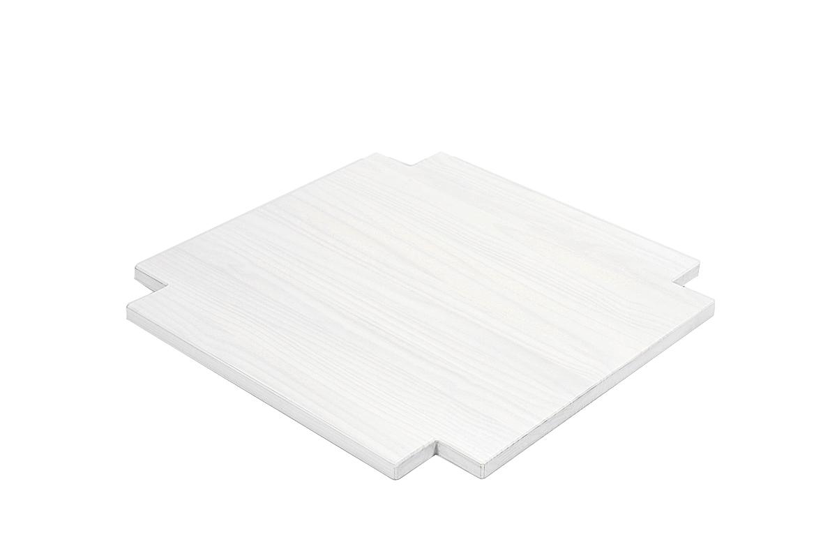 Ablage Zwischenboden für Couchtisch 80x80cm Rio Bonito White Grain