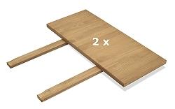 2 Ansteckplatten 50x90cm für Tisch Rio Bonito Pinie massiv Honig hell