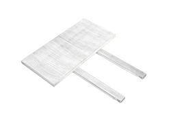 2 Ansteckplatten Rio Bonito weiss 40x80cm für Tisch Pinie Shabby White