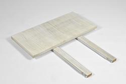 2 Ansteckplatten Rio Bonito weiss 40x80cm für Tisch Pinie Shabby madeira