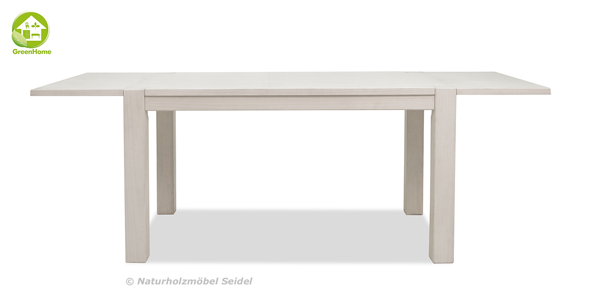 2 Ansteckplatten Rio Bonito weiss 40x80cm  Holz Tisch Pinie White Grain