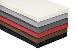 Bankauflage 100cm lang 38 cm breit, in 6 Farben, mit Reissverschluss, waschbar