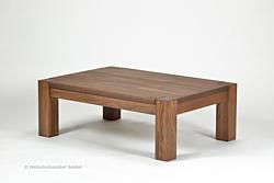 Couchtisch Rio Bonito Wohnzimmer Massivholz Tisch 100x70, Cognac braun