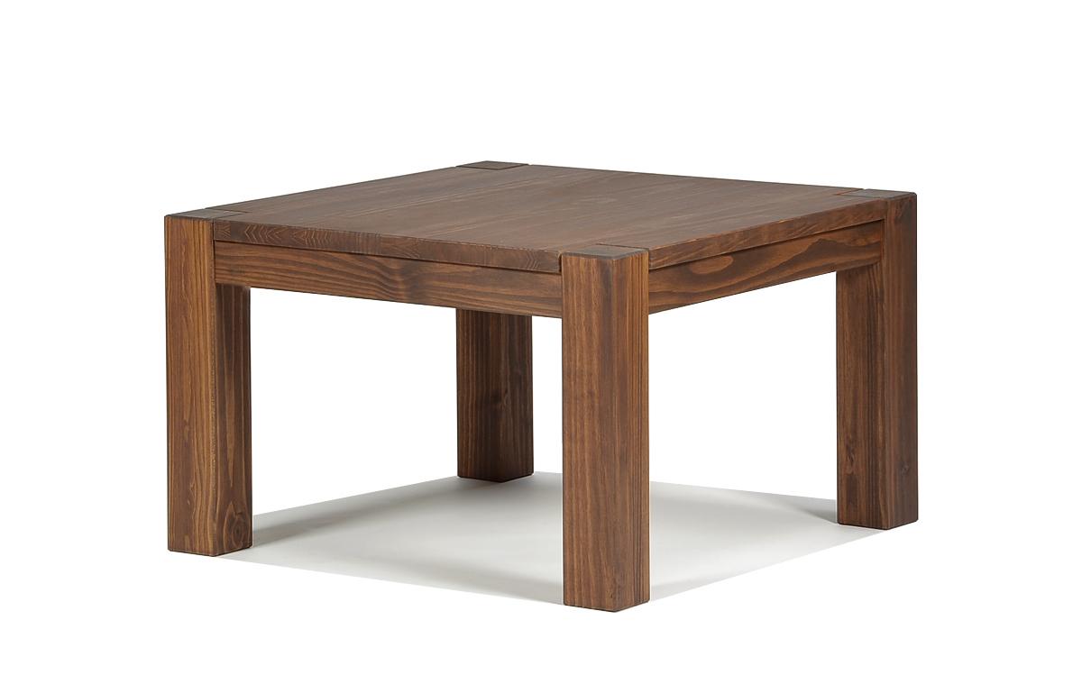 Couchtisch Rio Bonito  Massivholz Tisch 80x80 Pinie Cognac braun