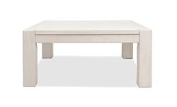 Couchtisch Wohnzimmer Massivholz Tisch 80x80cm Pinie massiv White Grain