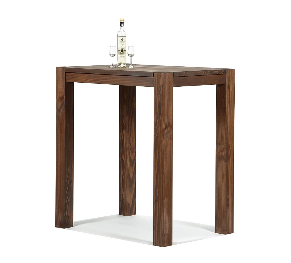 Hochtisch Rio Bonito Bartisch 100x70x110 Pinie massiv Cognac braun