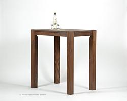 Hochtisch Rio Bonito Bartisch 100x70x110 Pinie massiv, Cognac braun