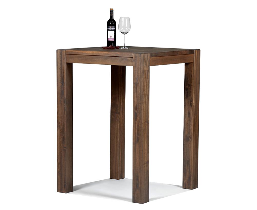 Hochtisch Rio Bonito Bartisch 80x80x110 Pinie Cognac braun