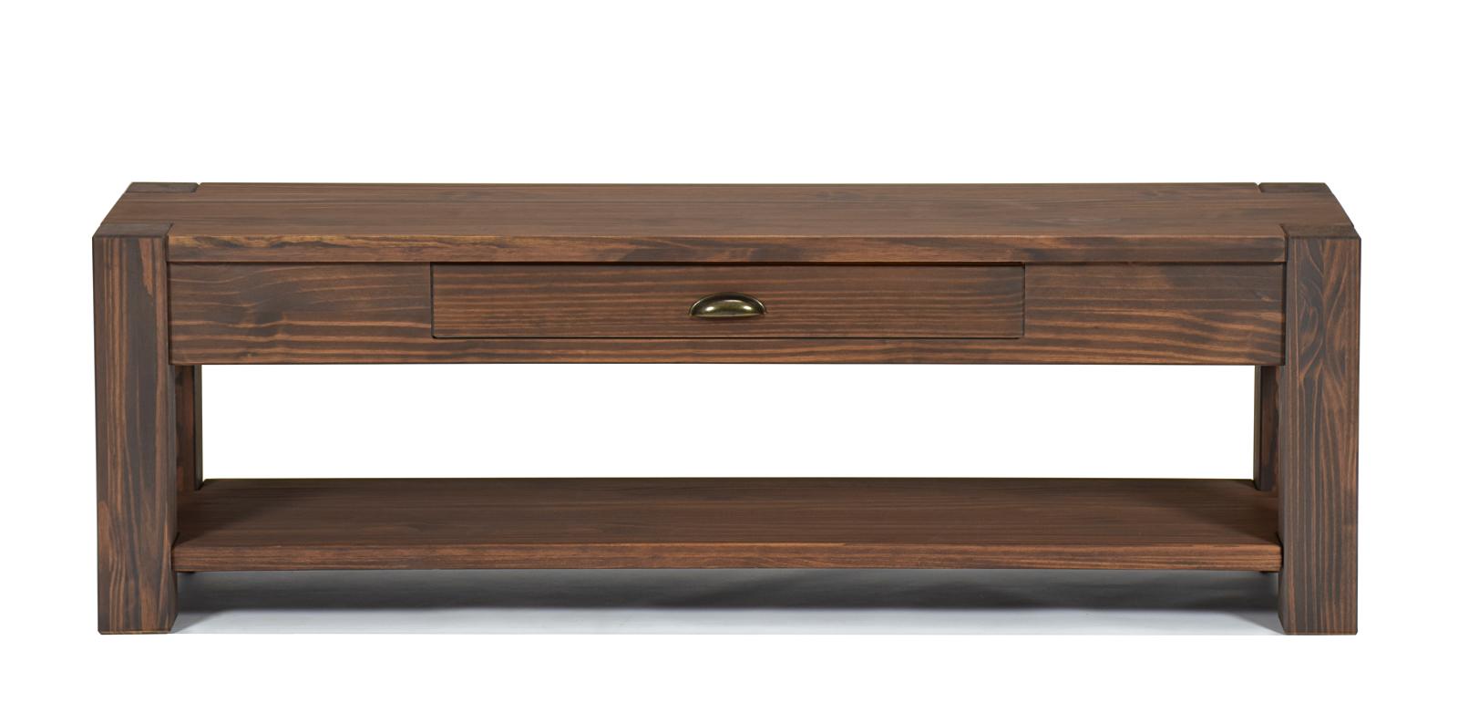 Lowboard mit Ablageboden Konsole Anrichte Wandtisch Pinie Cognac braun