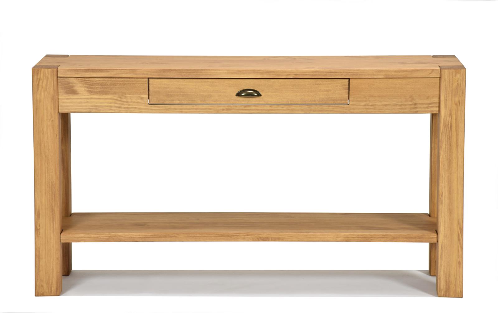 Sideboard 120, 140, 160cm mit Ablage Konsole Anrichte Wandtisch Pinie Honig hell