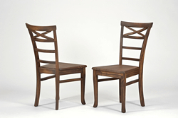 2 Stühle ,,Rio Bonito,, Massivholz Pinie Cognac braun