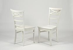 2 Stühle ,,Rio Bonito,, Massivholz Pinie White Grain