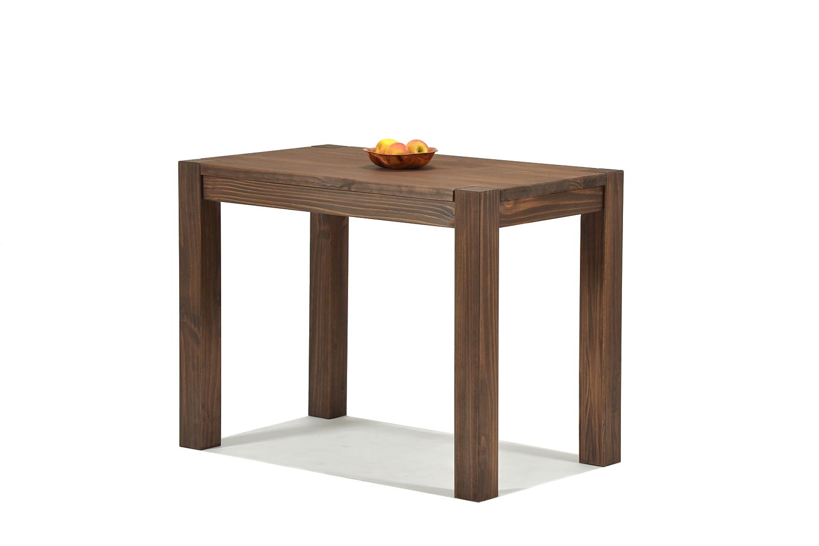 Esstisch Rio Bonito Esszimmer Tisch 90x50cm Massivholz Pinie Cognac braun