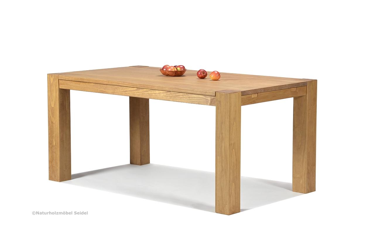 Esstisch Rio Bonito Massivholz Tisch 160x90cm Pinie massiv Honig hell