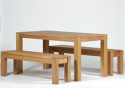 Sitzgruppe Rio Bonito Tisch 160x80cm + 2 Bänke 160 cm Pinie Honig hell