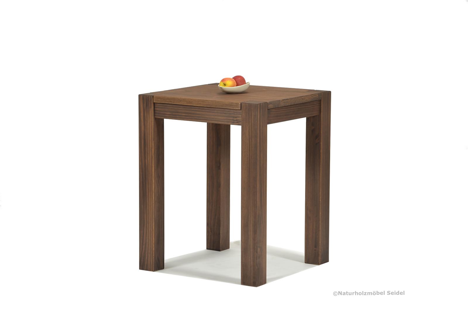 Esstisch Rio Bonito Esszimmer Tisch 60x60cm Massivholz Pinie Cognac braun