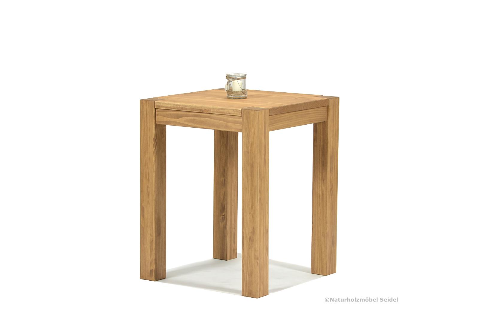 Esstisch Rio Bonito Esszimmer Tisch 50x50cm Massivholz Pinie Honig hell